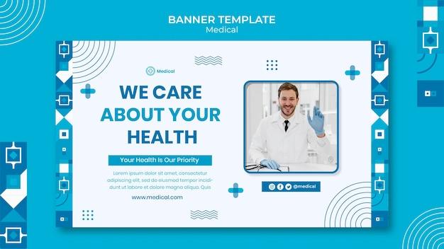 Szablon projektu banera medycznego