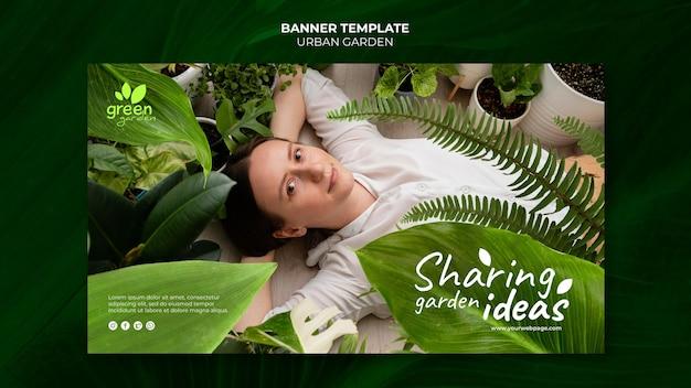 Szablon projektu banera miejskiego ogrodu