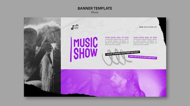 Szablon projektu banera muzycznego