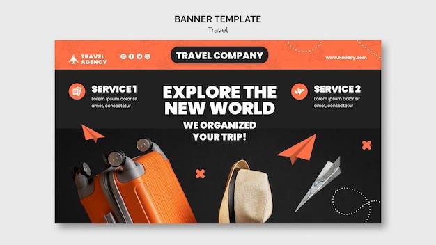 Szablon projektu banera podróży