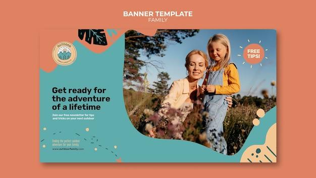 Szablon projektu banera rodzinnego dla dzieci i rodziców
