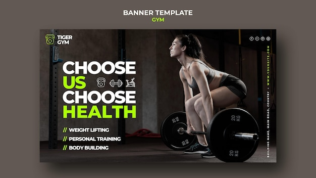 Szablon projektu banera siłowni
