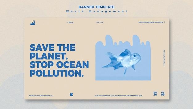 Szablon projektu banera zarządzania odpadami