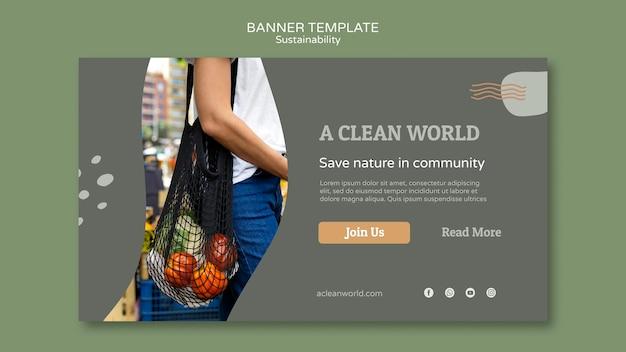 Szablon projektu banera zrównoważonego rozwoju