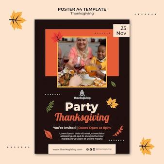 Szablon projektu dziękczynienia plakatu