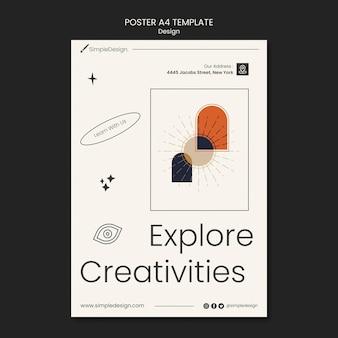 Szablon projektu geometrycznego plakatu