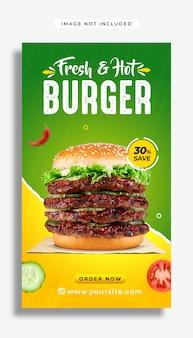 Szablon projektu historii fast food na instagramie