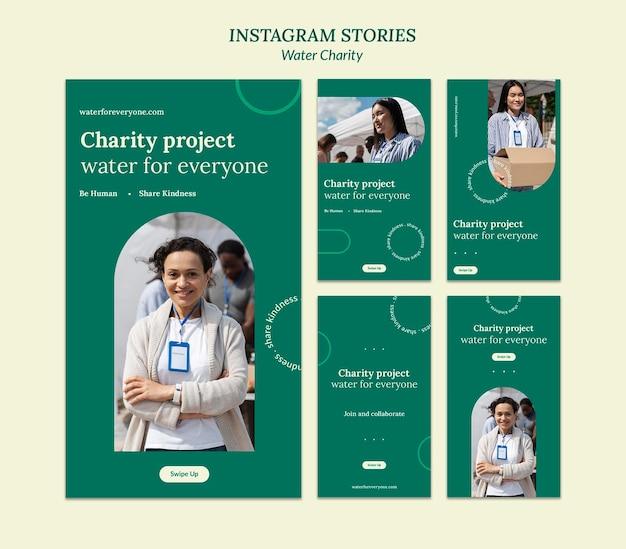 Szablon projektu historii insta na cele charytatywne