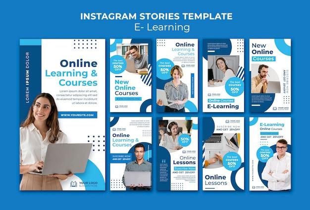 Szablon projektu insta story e-learning