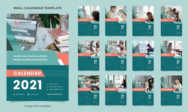 Szablon projektu kalendarza ściennego firmy