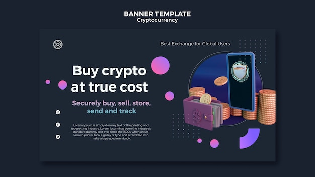 Szablon projektu kryptowaluty banera