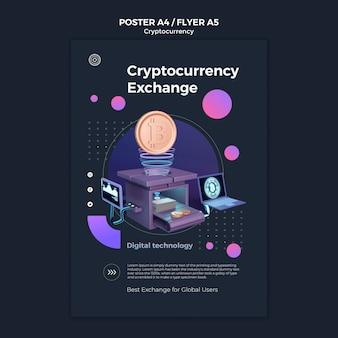 Szablon projektu kryptowaluty plakatu