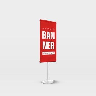 Szablon projektu makieta nowoczesny roll up banner