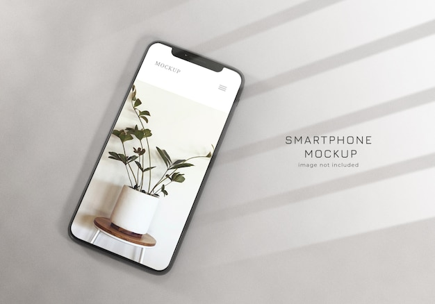 Szablon projektu makieta realistyczne czyste smartphone