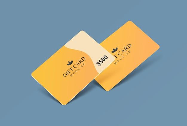 Szablon projektu makiety karty podarunkowej