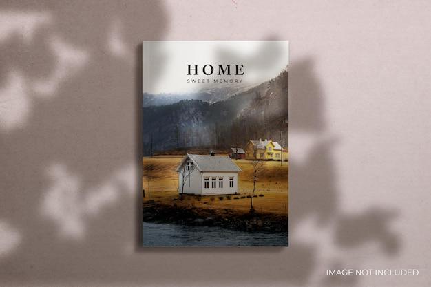 Szablon projektu makiety magazynu redakcyjnego z widokiem z przodu
