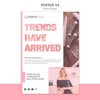 Szablon projektu mody plakat