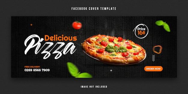Szablon projektu okładki na facebooku żywności