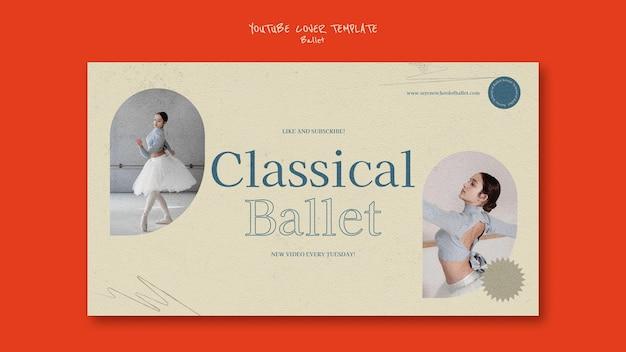 Szablon projektu okładki na youtube balet