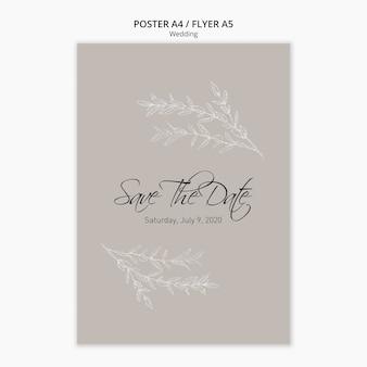 Szablon projektu plakat ślub