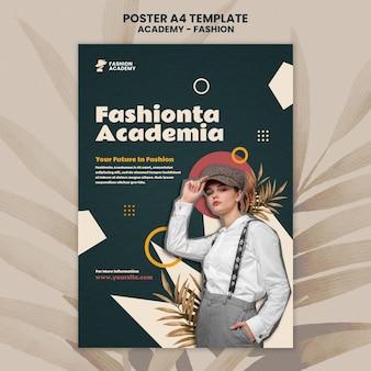 Szablon projektu plakatu akademii mody