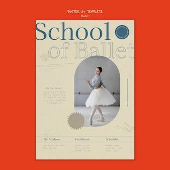 Szablon projektu plakatu baletowego