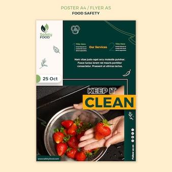 Szablon projektu plakatu bezpieczeństwa żywności