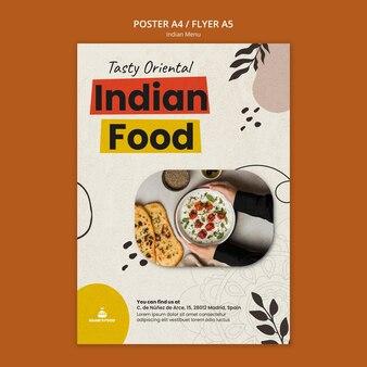 Szablon projektu plakatu indyjskiego jedzenia