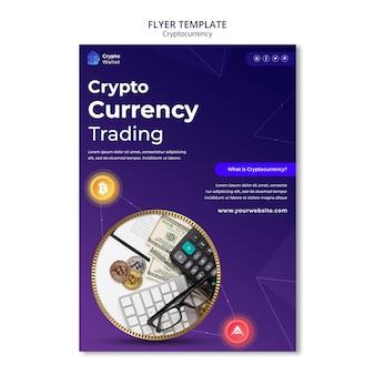 Szablon projektu plakatu kryptowalut
