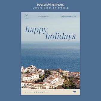 Szablon projektu plakatu luksusowe wakacje