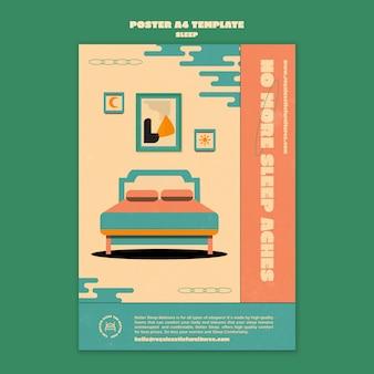 Szablon projektu plakatu mebli do spania