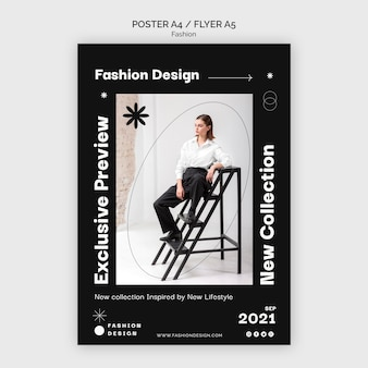 Szablon projektu plakatu mody