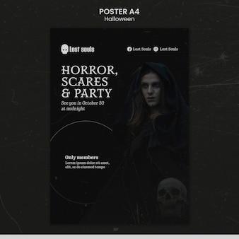 Szablon projektu plakatu na halloween