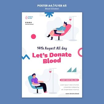Szablon projektu plakatu oddawania krwi