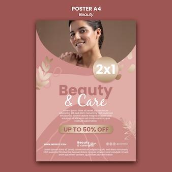 Szablon projektu plakatu piękności