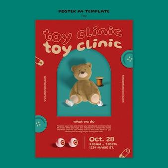 Szablon projektu plakatu restauracji zabawek