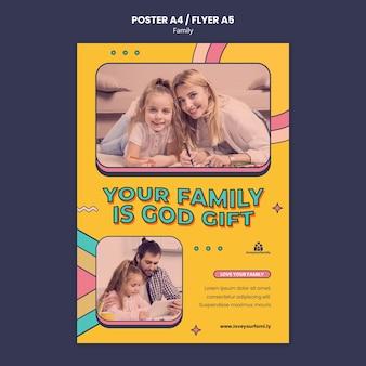 Szablon projektu plakatu rodzinnego