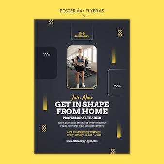 Szablon projektu plakatu siłowni