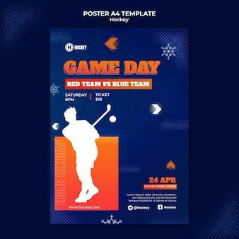 Szablon projektu plakatu sportowego hokejowego