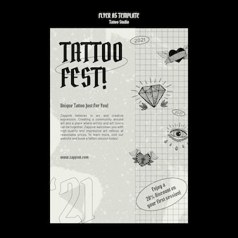 Szablon projektu plakatu studio tatuażu