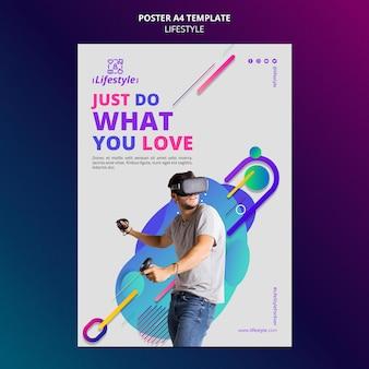 Szablon projektu plakatu stylu życia