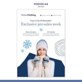 Szablon projektu plakatu zimowego