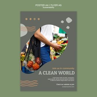 Szablon projektu plakatu zrównoważonego rozwoju