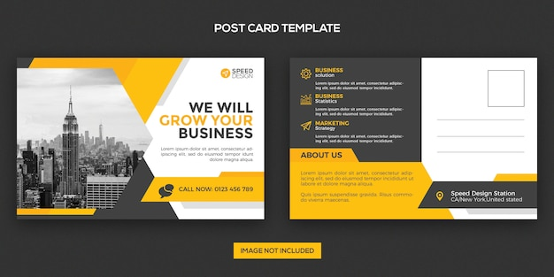 Szablon projektu pocztówki korporacyjnej