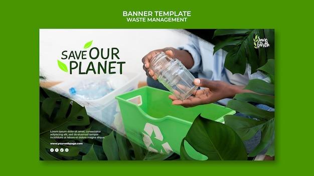 Szablon projektu postu na baner zarządzania odpadami
