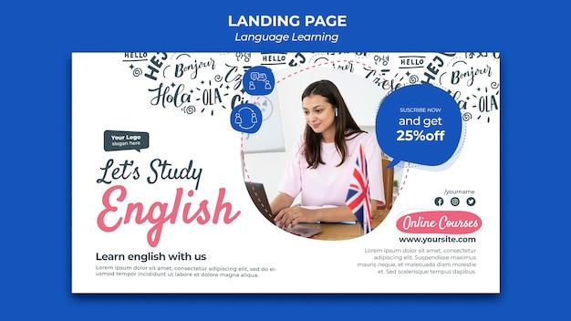 Szablon projektu strony docelowej do nauki języka