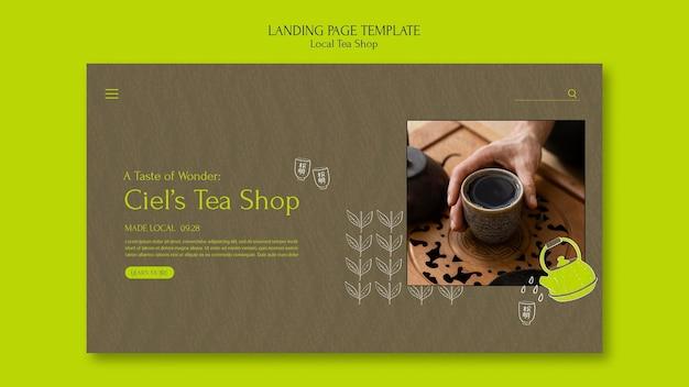 Szablon projektu strony docelowej lokalnego sklepu z herbatą