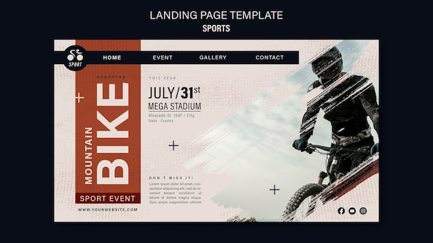 Szablon projektu strony docelowej sportu rowerowego
