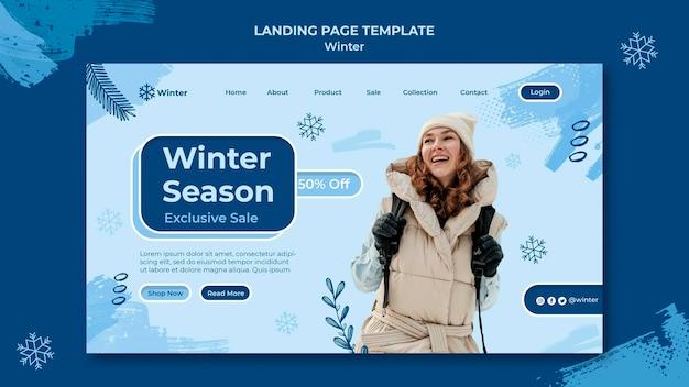 Szablon projektu strony docelowej sprzedaży zimowej