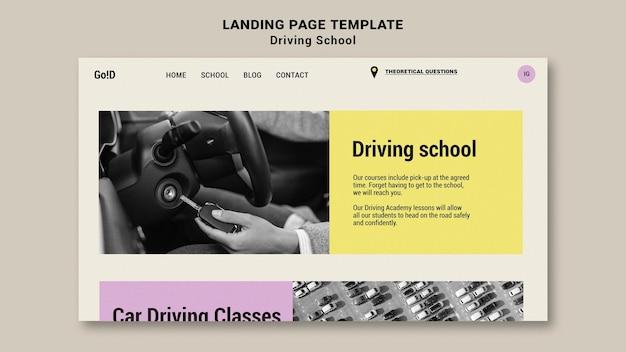 Szablon projektu strony docelowej szkoły jazdy